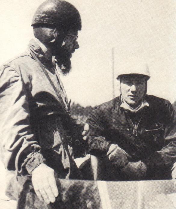 Moss et Jenkinson durant les essais à Hockenheim.