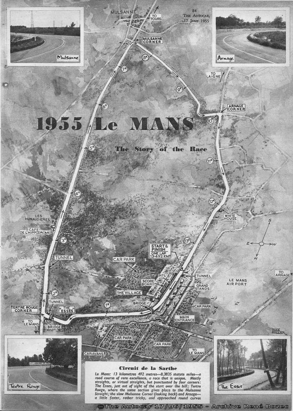 Le tracé du circuit en 1955