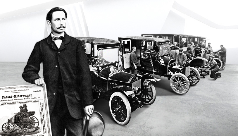Karl Benz Source : Mercedes-Benz