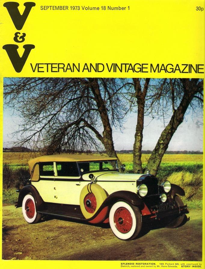 Magasine Veteran and Vintage, sept. 1973 flickr.com