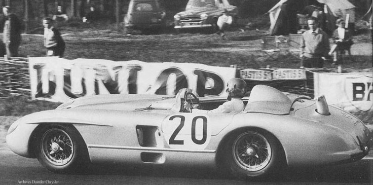 Pierre Levegh sur la Mercedes n°20 Source : Archives Daimler