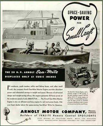 Publicité d'époque pour le moteur Sea-Mite