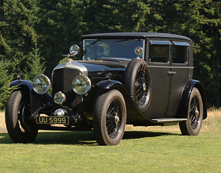 Bentley Speed Six Saloon personnelle de Woolf Barnato, voiture qui gagna la course contre le Train Bleu les 13 et 14 mars 1930 Source : rrec.de
