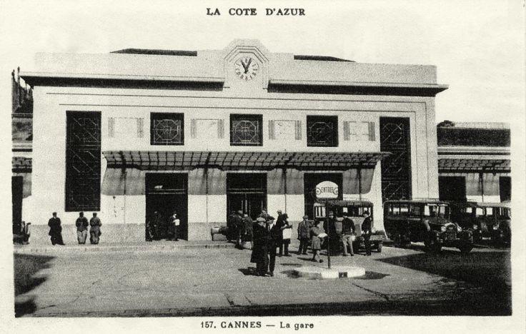 La Gare de Cannes en 1930 Source : cparama.com