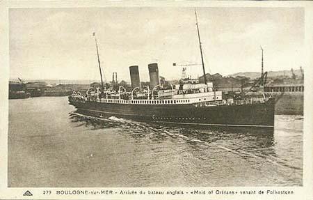 Maid of Orleans, navire probable sur lequel Barnato a pu faire la traversée Boulogne-Folkestone Source : simplonpc.co.uk
