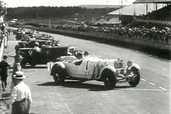 La Bentley Speed Six n°9 aux mains de Barnato et Kidston remportera les 24 heures du Mans 1930 Source : Automobile Club de l'Ouest
