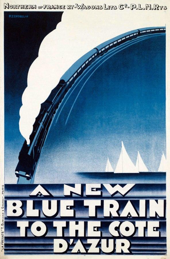 Publicité pour le Train Bleu, datant de 1928 Source : retours.eu