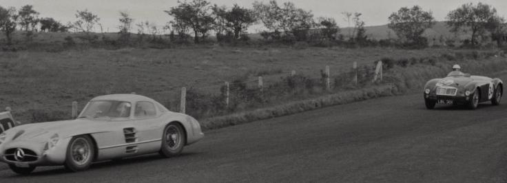 Coupé 300SLR Uhlenhaut lors des essais Source : Collection George Phillips
