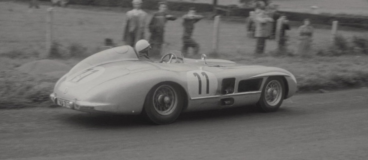 La Mercedes 300SLR n°11 de Wolfgang von Trips et André Simon Source : Collection George Phillips