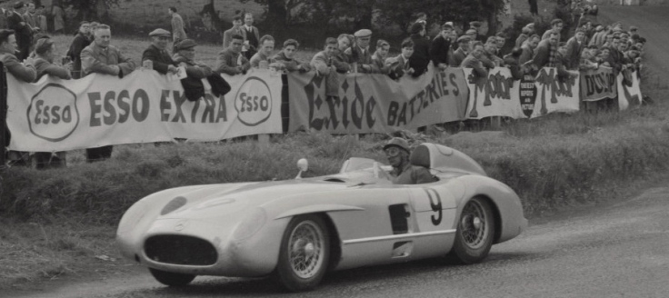 Mercedes 300SLR n°9 de Juan Manuel Fangio et Karl Kling Source : Collection George Phillips