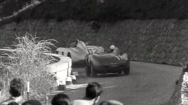 Bagarre entre Castellotti et Fangio.