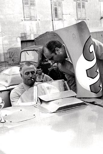 Fangio et Kling, peu de temps avant la course.