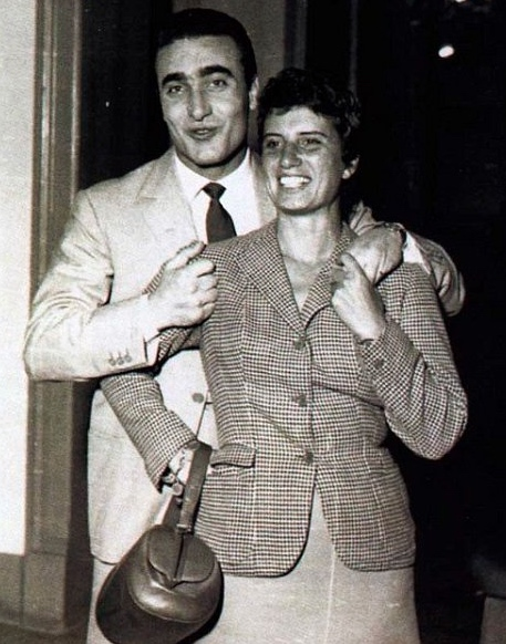 Maria Teresa de Filippis en compagnie d'Eugenio Castellotti.