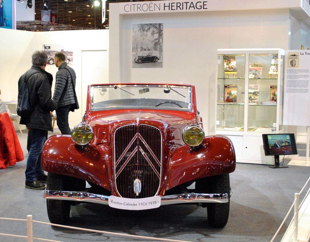 Stand Citroën Héritage, Traction cabriolet 11CV (1938)