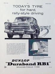 Publicité Duraband de Dunlop