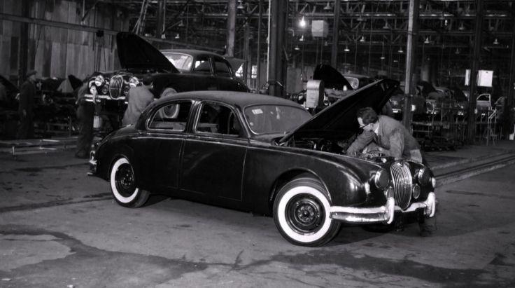 Jaguar de Browns Lane en 1957.