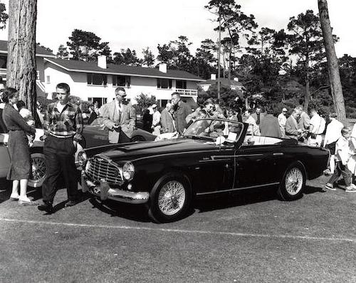 LML/506 lors du concours d'élégance de Pebble Beach en 1955.