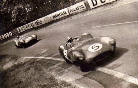 L'Aston-Martin DBR1 du binôme Salvadori/Shelby au Mans 1959