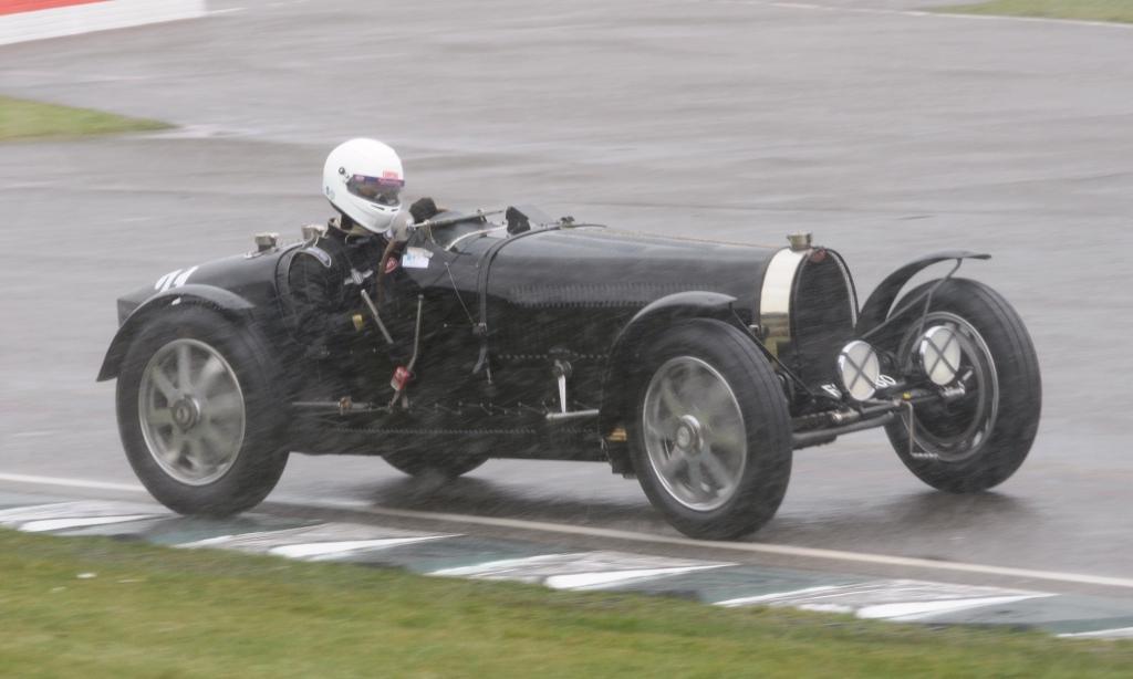 Bugatti sliding in the snow